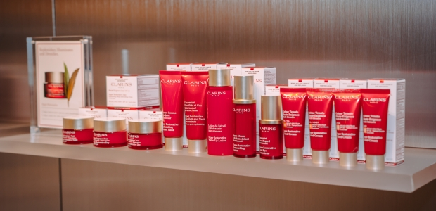 These Clarins products are readily available for purchase at the MGM Spa. (Photo: Clyde Jones/ClarinsUSA)