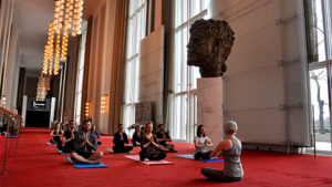 Take a yoga class at the Kennedy Center this Saturday. (Photo: John F. Kennedy Center for the Performing Arts)