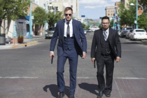 Alexander Skarsgård and Michael Peña star in <em>War on Everyone</em> at the Capital Irish Film Festival at 7:45 p.m. on Saturday. (Photo: Saban Films)