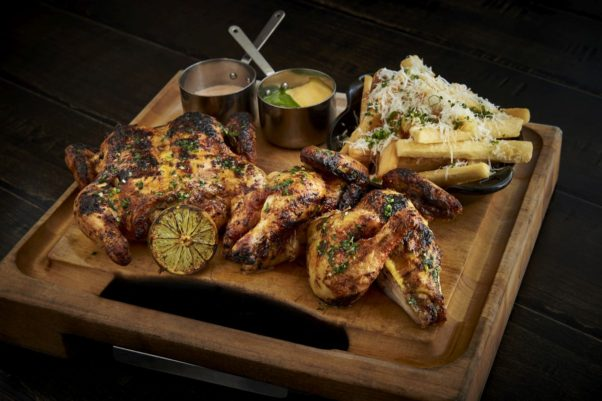 Del Campo's Peruvian chicken is now served whole for sharing. (Photo: Greg Powers)
