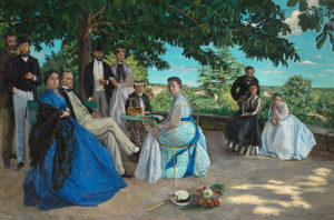 The Family Gatherinh by Frederic Bazille is on display at the National Gallery of Art beginning Sunday. (Photo: Frederic Bazille)