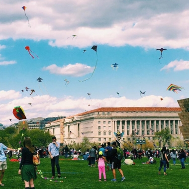 The Blossom Kite Festiva is Saturday from 10 a.m.-4:30 p.m. at the Washington Monument. (Photo: alinarose/Instagram)l