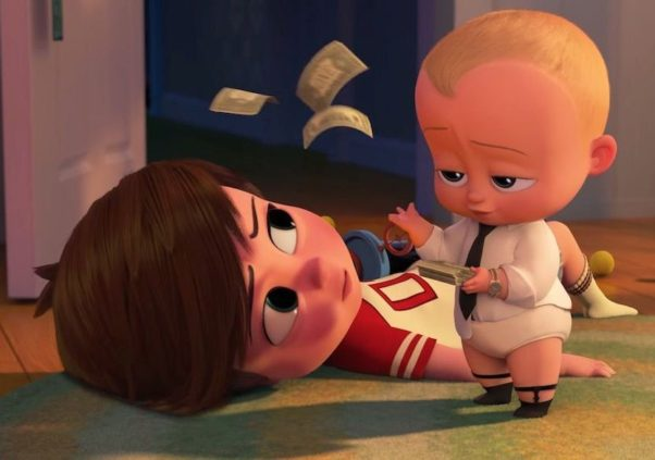 <em>The Boss Baby</em> led for a second straight weekend with $26.36 million, beating out three newcomers. (Photo: DreamWorks Animation)