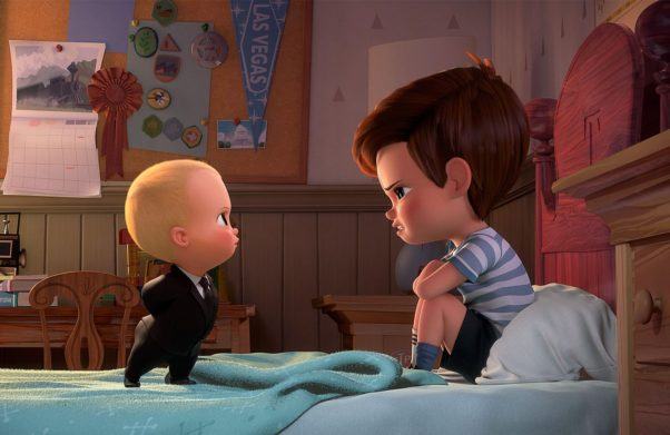 """""""The Boss Baby"""" took first place in theaters over the weekend with $50.20 million, beating """"Beauty and the Beast."""" (Photo: DreamWorks Animation)"""