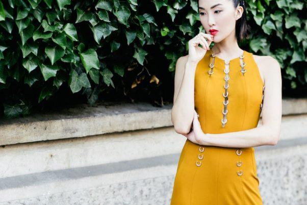 Gown by Mugler (Photo: Hana Le Van)