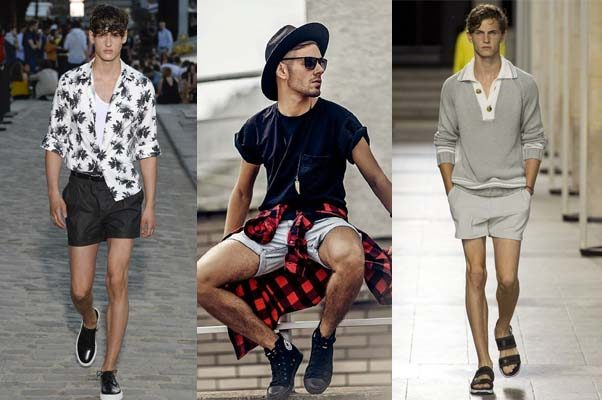 Shorts are staying above the knee this year and showing the thigh. (Photos: Paul & Joe/Klury/Hermes)
