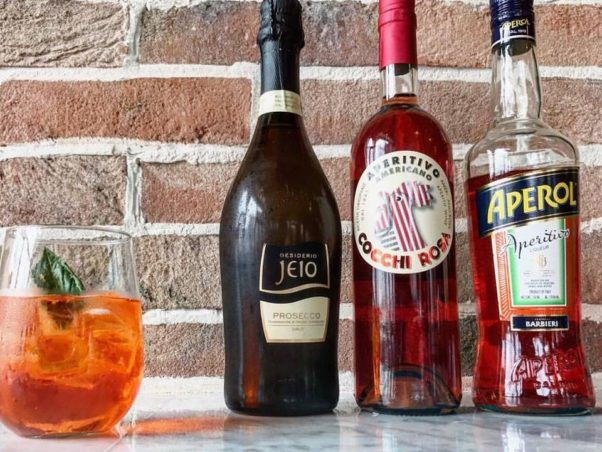 Osteria Morini is serving up three spritzes during April, including the Aperol Crush pictured here. (Photo: Osteria Morini)