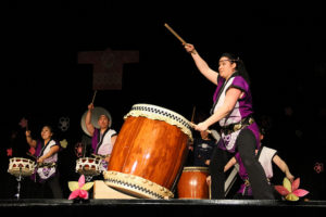 Taiko drummers from Fairfax Station's Nen Daiko perform at last year's Sakura Taiko Fest. (Photo: Sarah Gilbert)