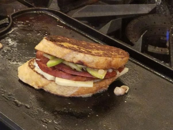 The Ver-Monte Cristo sandwich is a grilled ham and cheese on French toast. (Photo: Mark Heckathorn/DC on Heels)