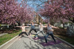 Perfect your corpse pose at Zombie Yoga in Congressional Cemetery on Sunday morning. (Photo: Congressional Cemetery)