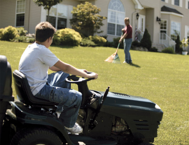 Children younger than 12 should not operate a walk-behind mower and teen younger than 16 should not operate a riding mower. (Photo: ThickStock)