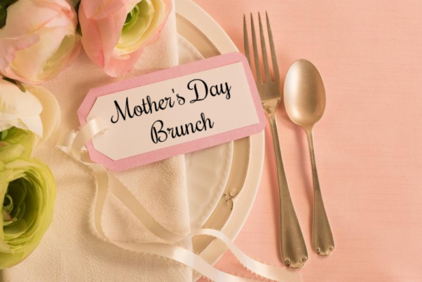 Mother's Day Brunch place setting & flowers