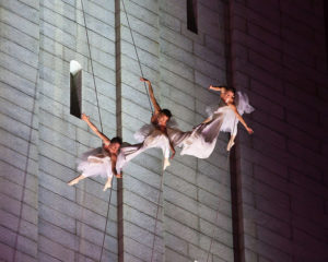 Bandaloop will perform during the Kennedy Center's open house on the side of the building. (Photo: Steve Cota)