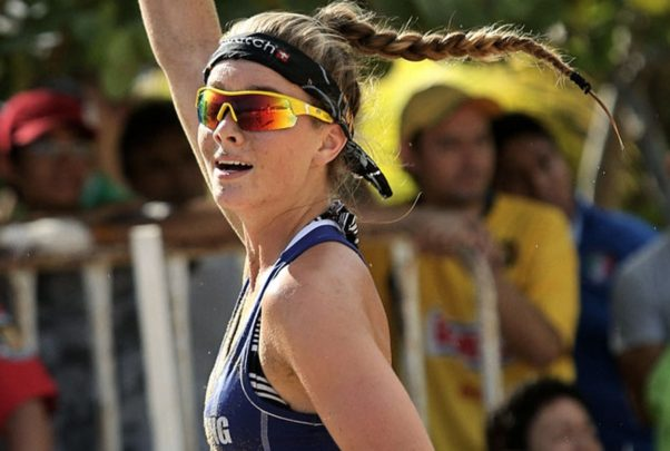 Wear sunglasses that are specifically made for outdoor activities so they will stay put with while you are running or jumping. (Photo:: Blue Maize)