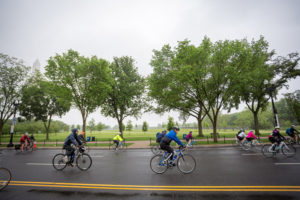 The D.C. Bike Ride is a 20-mile ride along closed city streets on Sunday. (Photo: D.C. Bike Ride)