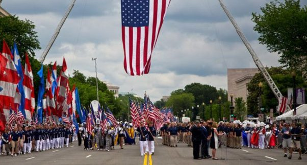 The National Memorial Day Parade travels down Constitution Avenue between Seventh and 17th Streets NW beginning at 2 p.m. (Photo: American Veterans Center)