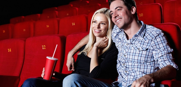 Get to the theaters early to get prime seating for your date. (Photo: Getty Images)