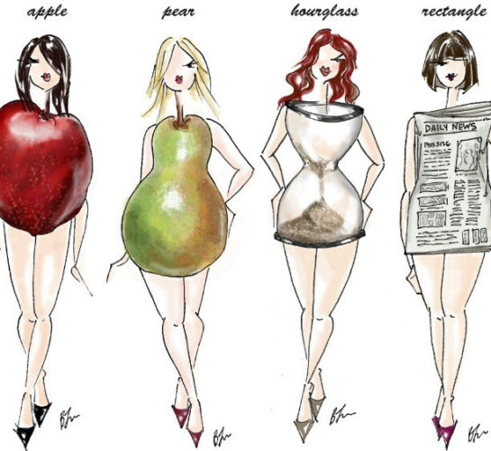 drawing of different female body types. (Graphic: shalazizi/Flickr)