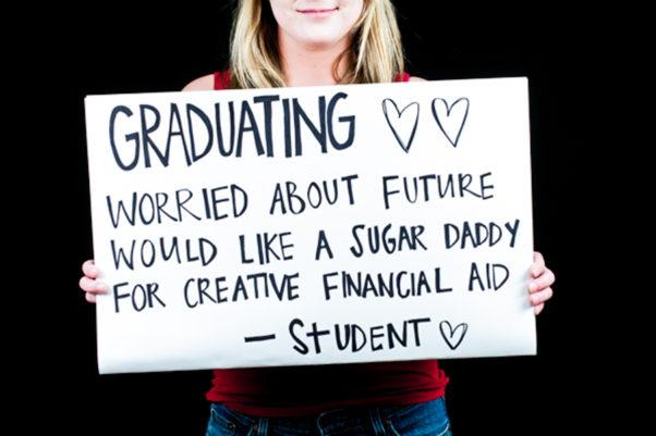 Sometimes students consider being sugar babies to cover financial aid. (Photo: theplaidzebra.com)