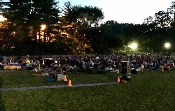 The Adams Morgan Movie Night has moved to the Walter Pierce Park on Tuesday nights this year. (Photo: Adams Morgan Partnership BID/Facebook)
