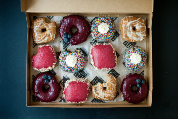 Astro Doughnut's June flavors include birthday cake, root beer float and blueberry lemon thyme. (Photo: Rachel Lyn Photography)Astro Doughnut's June flavors include birthday cake, root beer float and blueberry lemon thyme. (Photo: Rachel Lyn Photography)