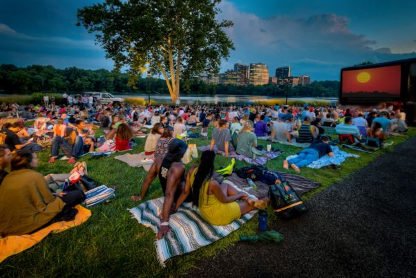 Sunset Cinema brings outdoor movies to the Georgetown waterfront Tuesdays in July and August. (Photo: Sam Kittner/Georgetown BID)