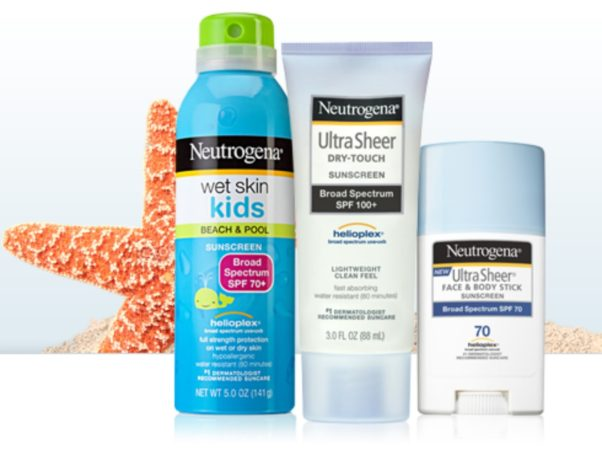 Johnson and Johnson will dontate $1 from any Neutrogena or Aveeno sunscreen products sold at CVS from June 18-24 to the American Cancer Society. IPhoto: Johnson & Johnson)