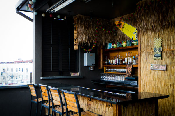 Jack Rose Dining Saloon's rooftop tiki bar is now open Thursday through Saturday evenings. (Photo: Shauna Alexander)