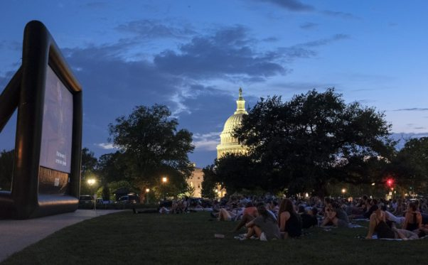 The Library of Congress' Summer Movies on the Lawn series features a movie from the National Film Registry every Thursday evening from July 12-Aug. 16. (Photo: Shawn Miller)