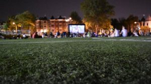 Movie Nights in the Heights features <em>Fences</em> at Harriet Tubman Elementary School beging at dark Friday. (Photo: Columbia Heights Initiative)