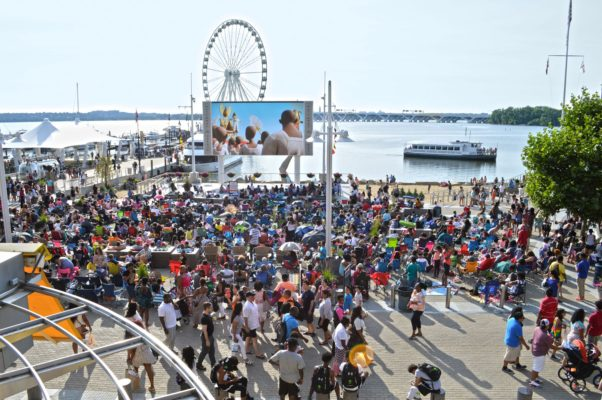 Movies on the Potomac at National Harbor will show family movies on Sundays and date night movies on Thursdays. (Photo: National Harbor)