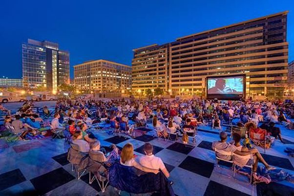 The NoMa Summer Screen features movies each Wednesday through mid-August. (Photo: NoMa BID/Facebook)