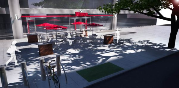 The Farragut location will also feature outdoor seating. (Image: Wawa)