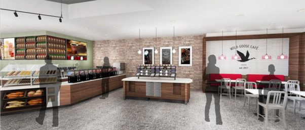 The D.C. Wawa will feature the Wild Goose Cafe seating area, a first for the chain. (Image: Wawa)