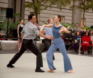 Salsa dance in the Kogod Courtyard Friday night as part of the Smithsoanian American Art Museum's New York Latino Film Festival. (Photo: Jeff Malet/National Portrait Gallery)Salsa dance in the Kogod Courtyard Friday night as part of the Smithsoanian American Art Museum's New York Latino Film Festival. (Photo: Jeff Malet/National Portrait Gallery)