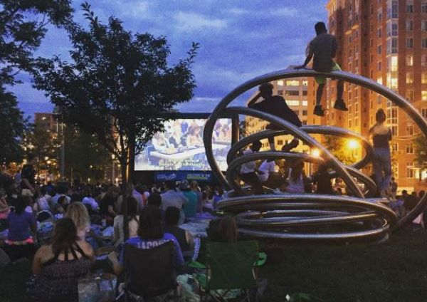 The Capitol Riverfront's Outdoor Movie Series brings films to Canal Park every Thursday (Photo: Canal Park/Facebook)
