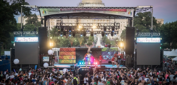 The 42nd annual Capital Pride Festival takes over Pennsylvania Avenue in front of the U.S. Capitol this Sunday with free performa ces by Miley Cyrus, Tinashe,, the Pointer Sisters, Vassy and others. (Photo: Denis . Largeron Photographie)