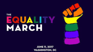 Sundays Equality March begins at 17th and I Streets NW and finishes at a rally on the Mall. (Image: The Equality March))