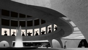 An after-hours party at the HIrshhorn will include turing the inner windows into a shadow theater. (Rendering Hoesy Corona)An after-hours party at the HIrshhorn will include turing the inner windows into a shadow theater. (Rendering Hoesy Corona)