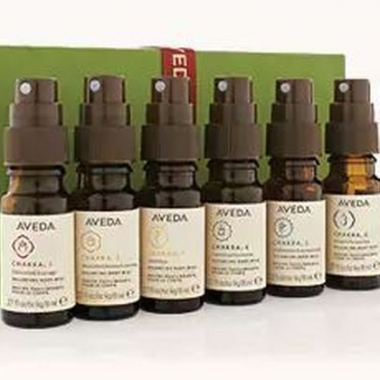 Aveda's Pure-Fume balancing body mists help balance chakras. (Photo: Aveda)