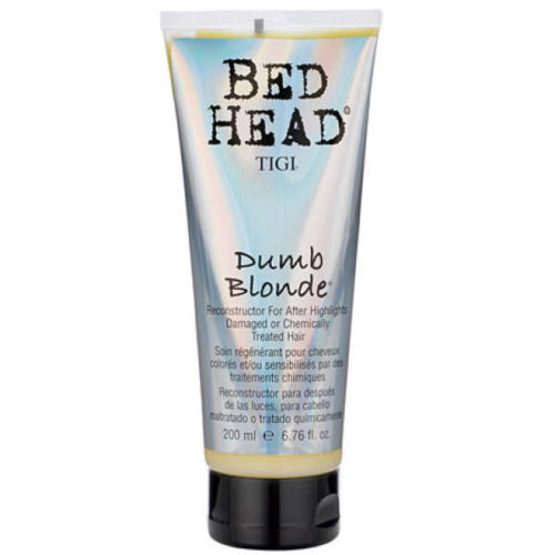 Bed Head's Dumb Blonde Recondstructor conditioner leaves newly-dyed hair soft, hydrated and tangle-free. (Photo: Bed Head)