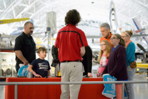 Kids and chaperones can sleep over at the National Air and Space Museum's Steven F. Udvar-Hazy Center on Saturday night. (Photo: Smithsonian Associates)