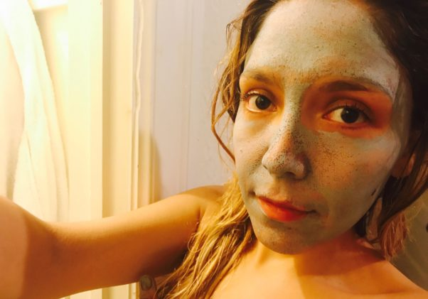 The mask is light and can be left on your face for as long as you like without irritation. (Photo: Emma Blancovich/DC on Heels)