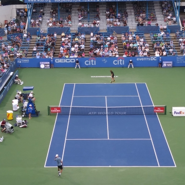 The Citi Open quarterfinals, semifinals and finals are this weekend at the Rock Creek Park Tennis Center. (Photo: Citi Open/Twitter)