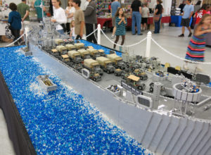 A 25-foot model of the USS Missouri made from Legos will be on display at BrickFest. (Photo: BrickFest)