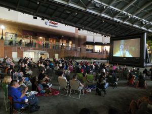 AFI brings Silver Screens on Veterans Plaza with free movies every Friday night at 8 p.m. through Sept. 1. (Photo: Visit Montgomery County)