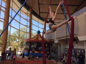 Arena Stage's community day on Saturday features aerialists, musicians, performances, food and more. (Photo: Arena Stage/Facebook)