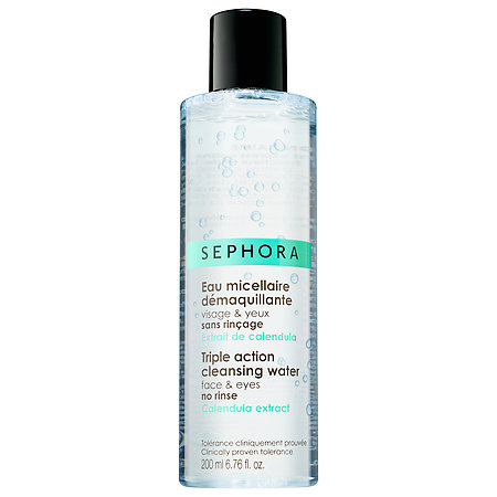 Sephora's no-rinse Triple Action Cleansing Water removes makeup and hydrates at the same time. (Photo: Sephora)