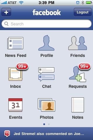 facebook screen (Photo: Dave Winer/Flickr)