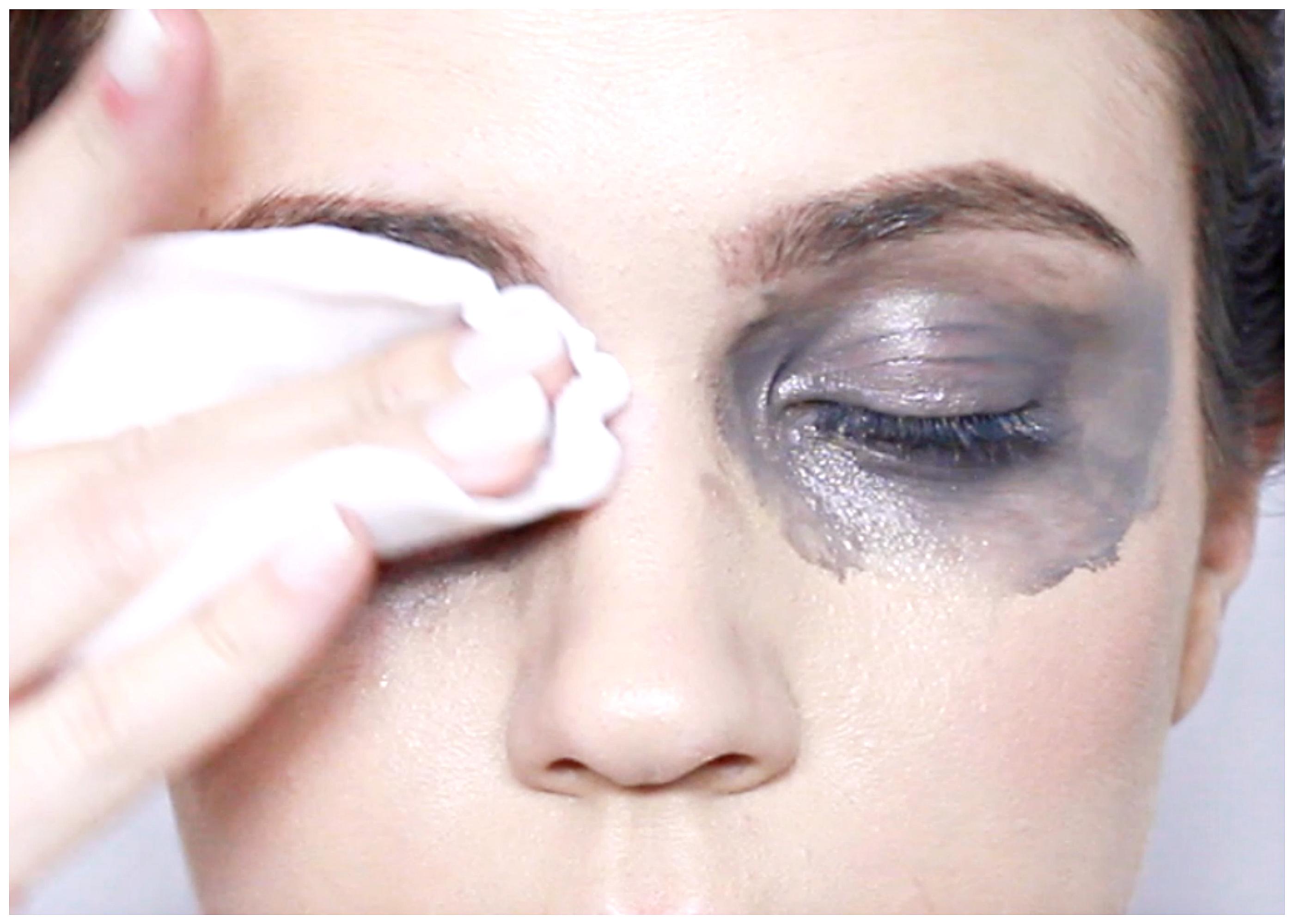 Removing eye makeup